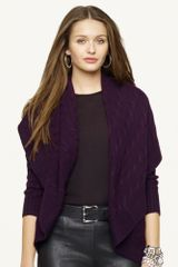 Black Label Cabled Cashmere Cardigan - Lyst
