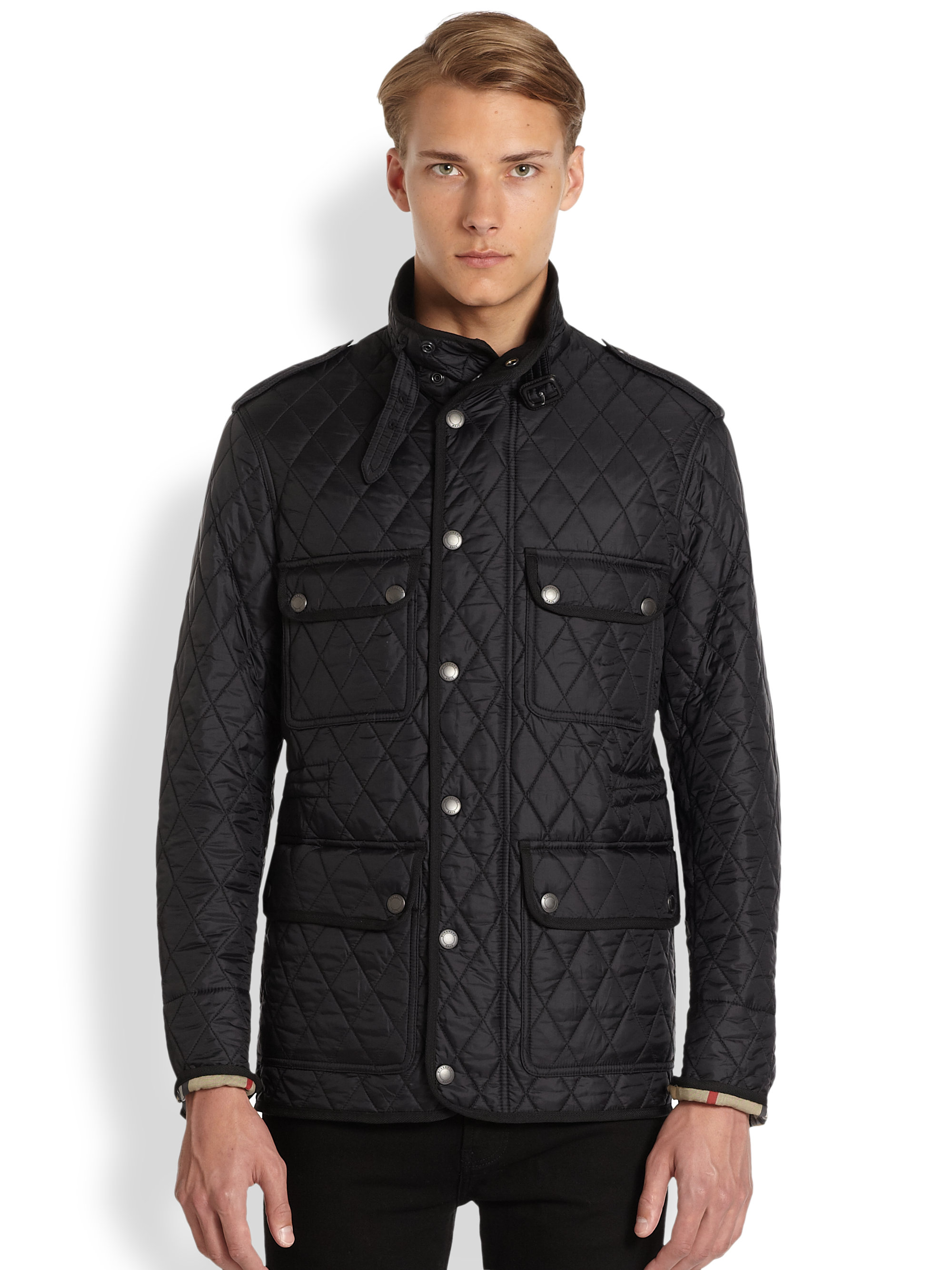 Lyst Burberry Brit Russell Quilted Jacket In Black For Men