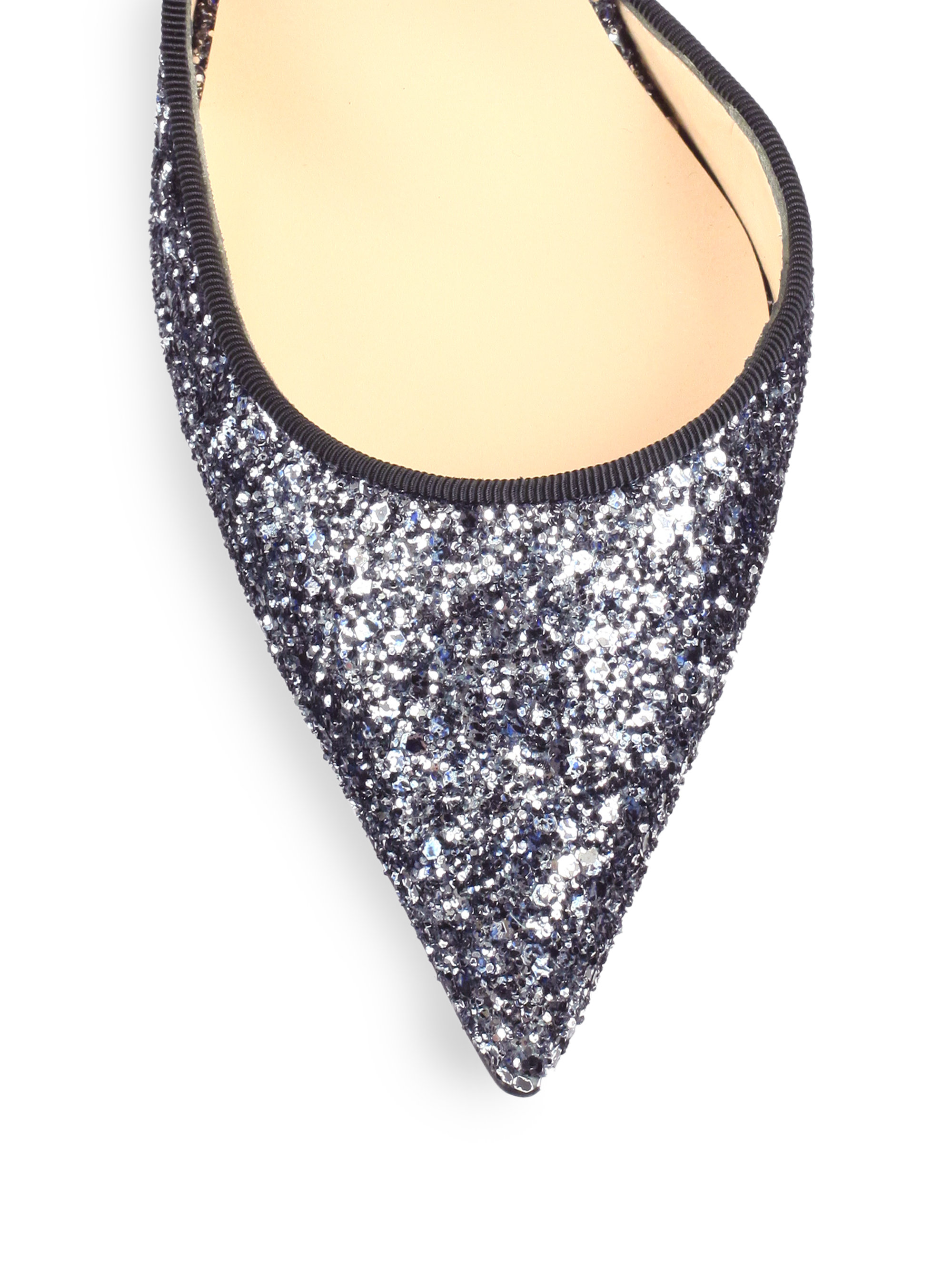 christian louboutin sequin half d'orsay pumps