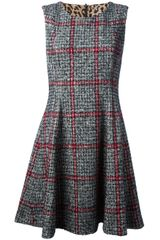 Dolce & Gabbana Sleeveless Checked Dress - Lyst