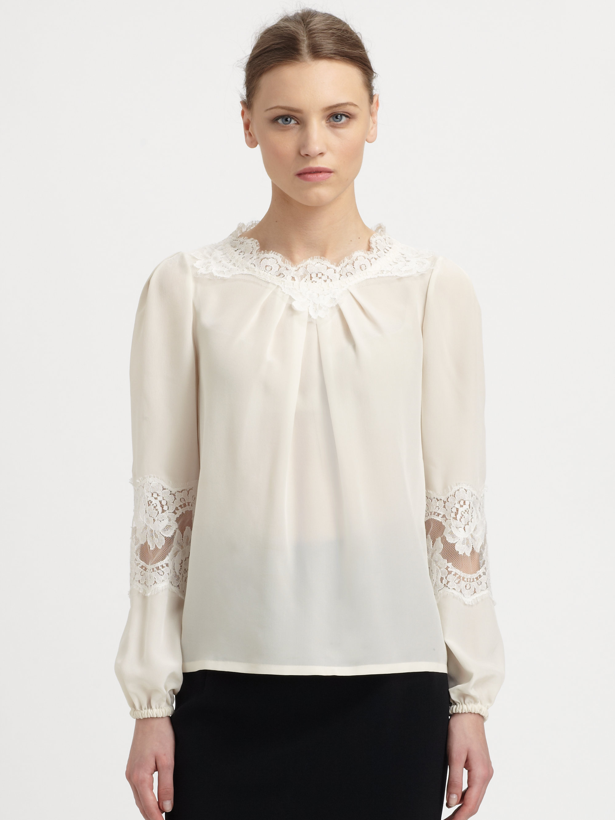 Silk Lace Blouse