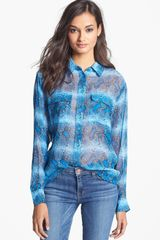 Equipment Signature Print Silk Shirt - Lyst