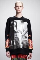 Givenchy Printed Girl Flame-sleeve Sweatshirt - Lyst