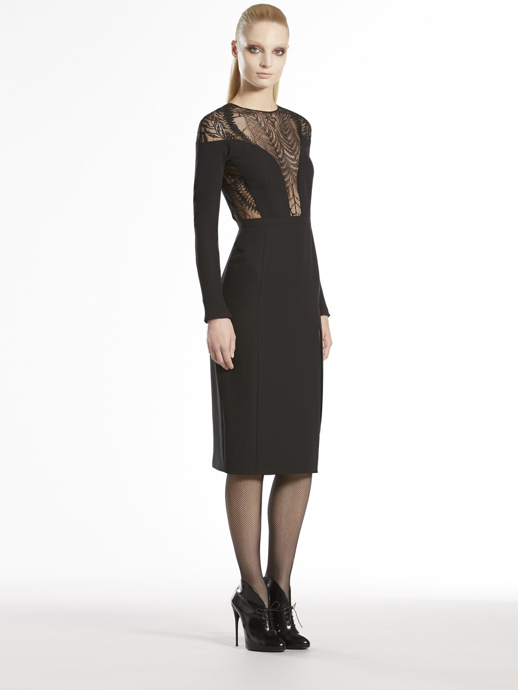 Lyst Gucci Lace Fern Long Sleeve Dress In Black