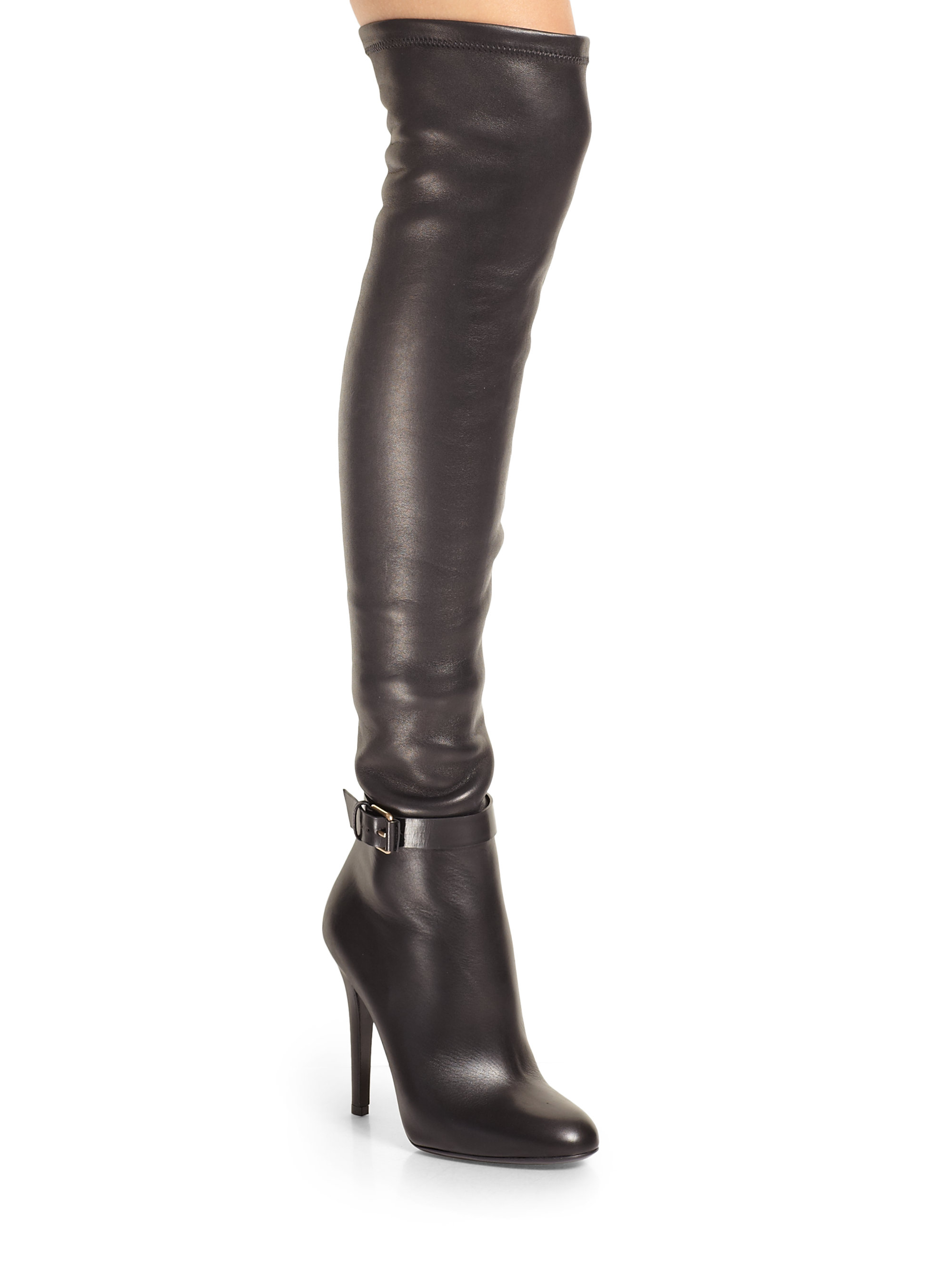 Jimmy Choo Tamba Stretchleather Overtheknee Boots in Black ...