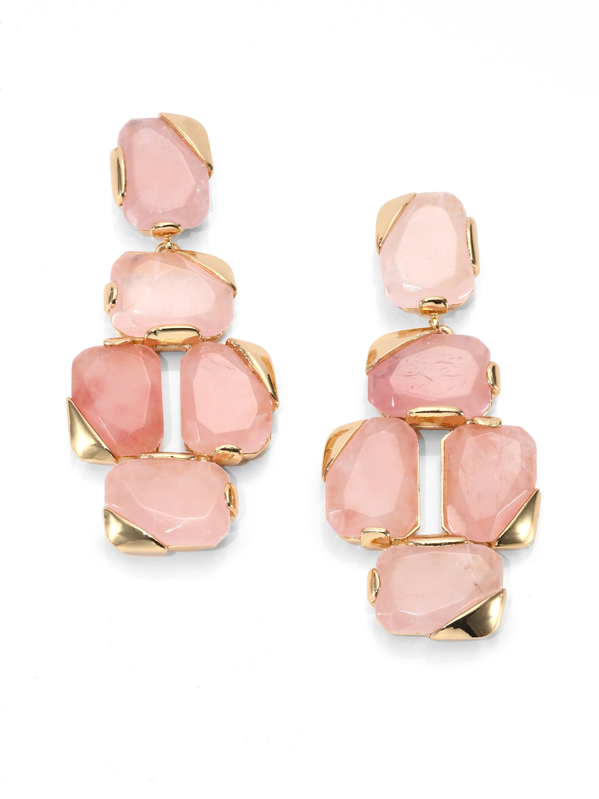 Kate spade new york Stepping Stones Rose Quartz Drop Earrings in ...