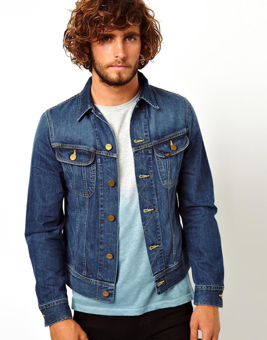 f58b4461 Lee Jeans Denim Jacket Rider Slim Fit Epic Blue in Blue for Men - Lyst