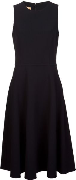Michael Kors Double Face Crepe Dress in Black - Lyst