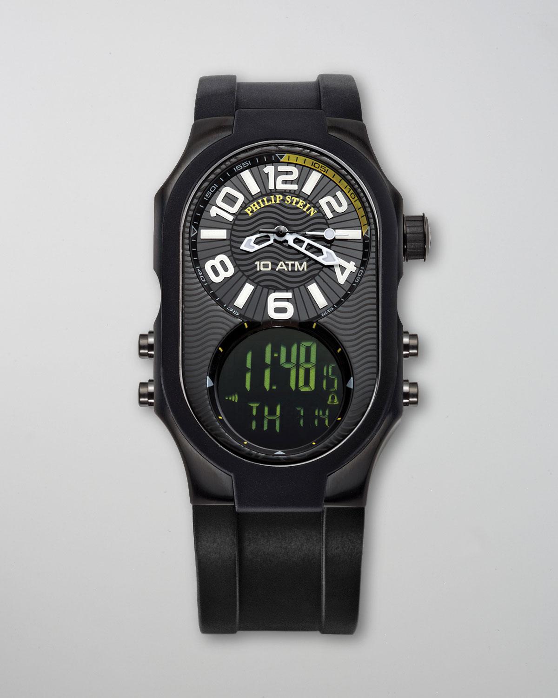 Philip stein mens analog digital watch in black for men lyst for Philip stein watches