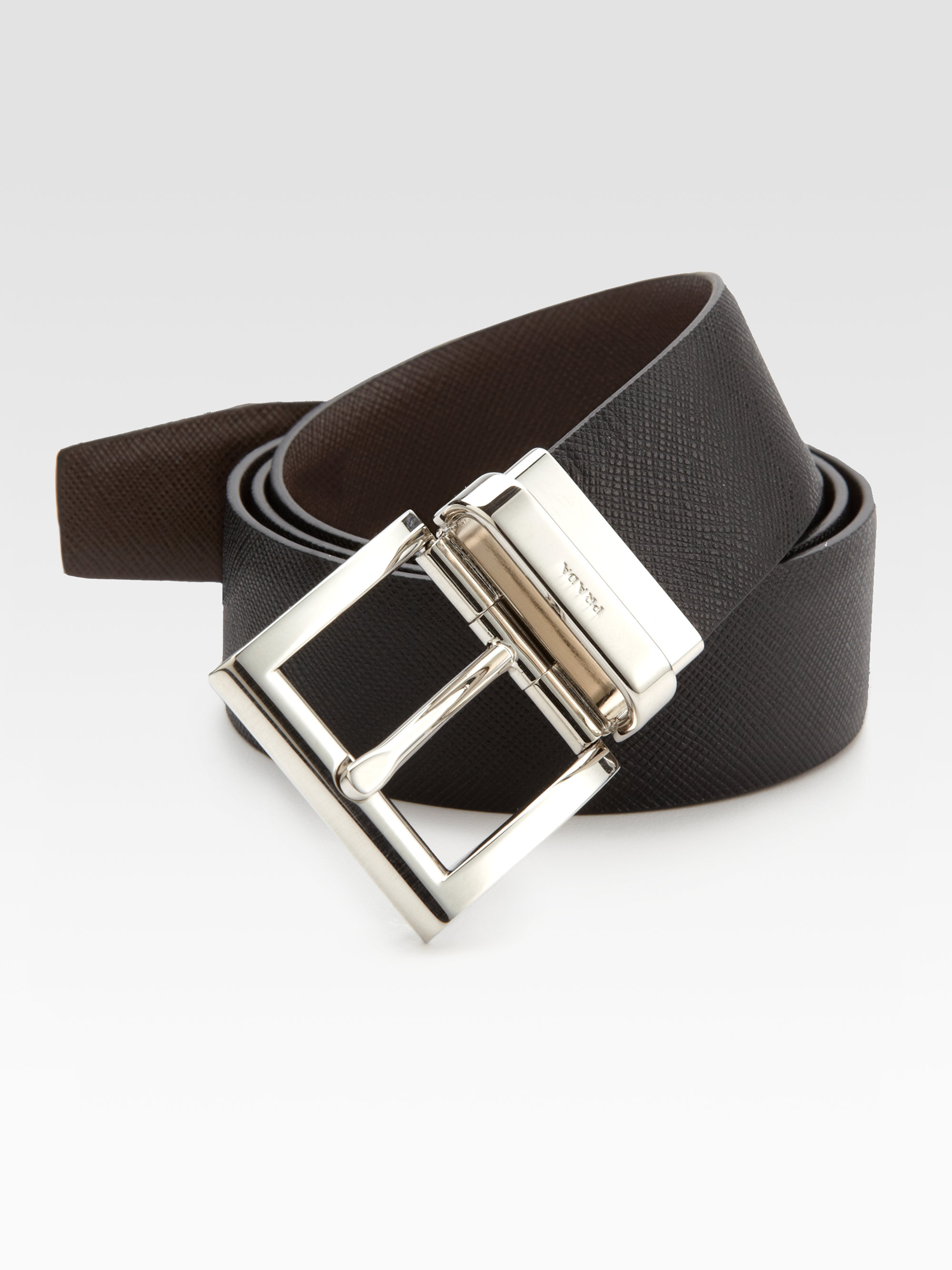 ... uk lyst prada saffiano reversible belt in black for men 1b4e6 7aa9f 1a0f090c20eff