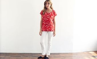 Rachel Rose Layered Petals Tee - Lyst