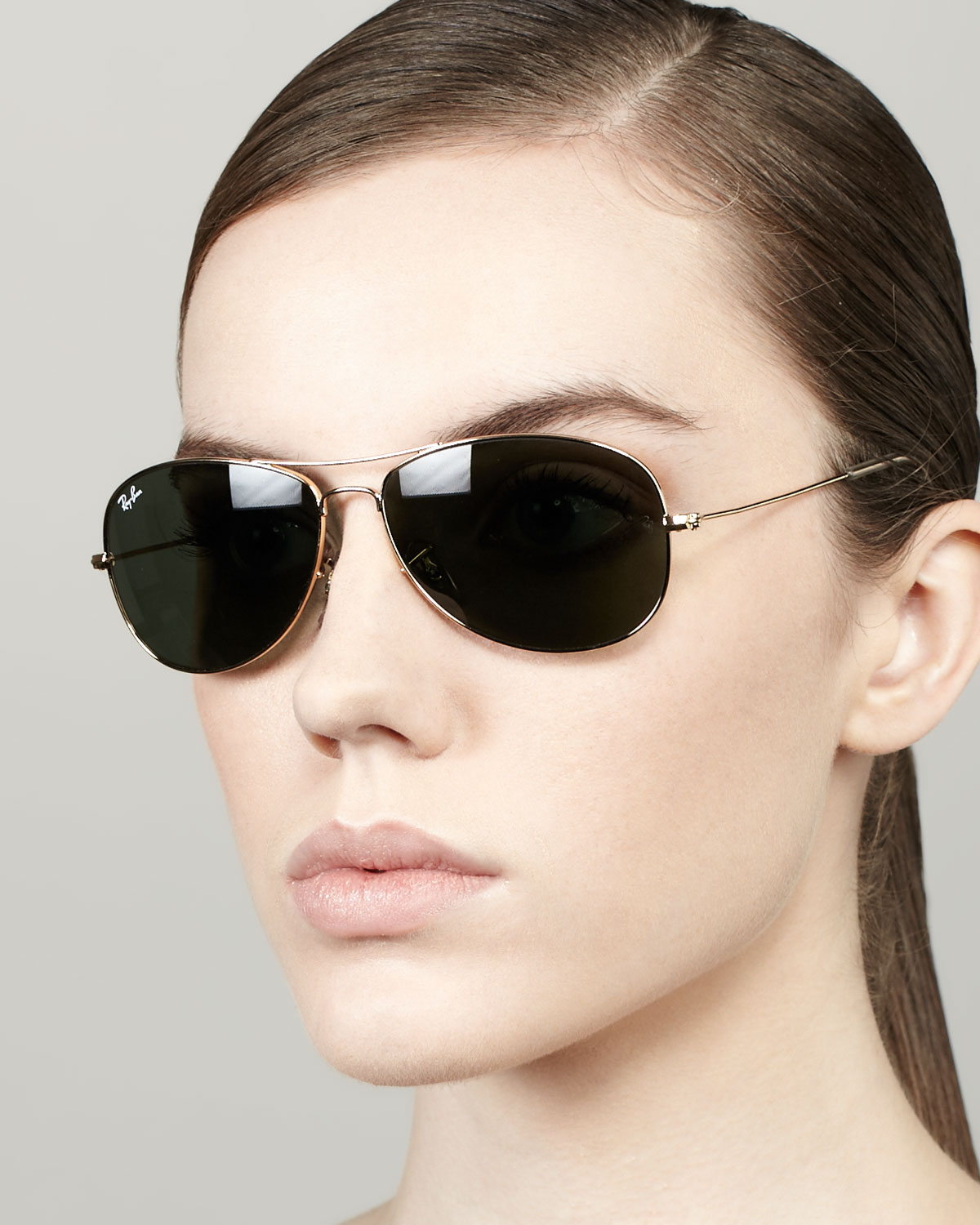 Sunglasses High Street  ray ban high street aviator sunglasses in metallic lyst