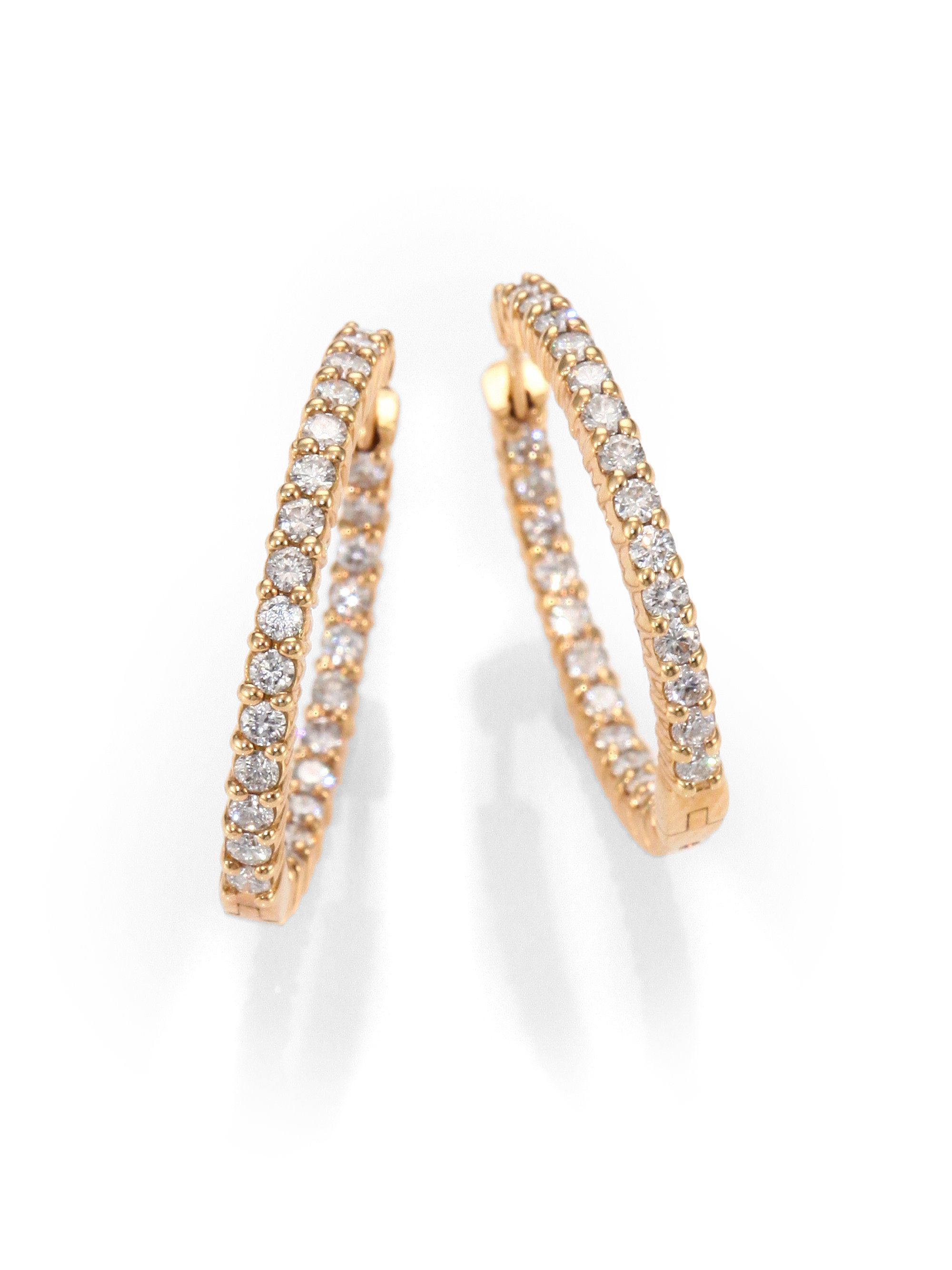 Gallery Previously Sold At Saks Fifth Avenue Women S Gold Hoop Earrings