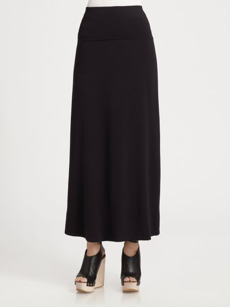 splendid stretch maxi skirt dress in black lyst