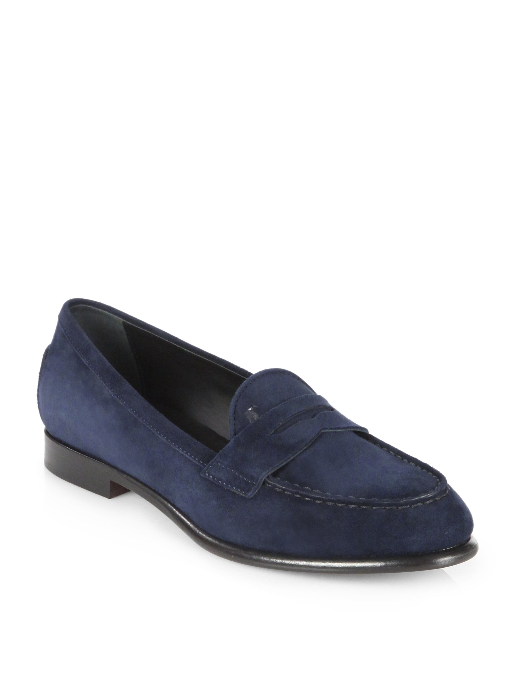 Blue Suede Ferragamo Shoes