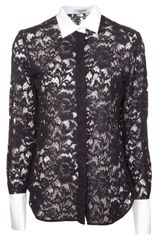 Valentino Lace Detailed Top - Lyst