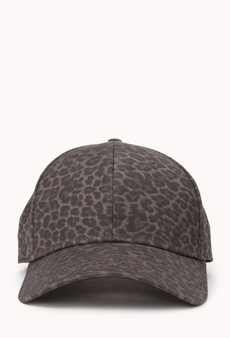 Lyst - Forever 21 Leopard Print Baseball Cap in Gray for Men bff29a4a6e2