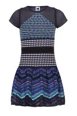 M Missoni Patchwork Drop Waist Dress - Lyst