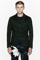 Marni Emerald Green Patterned Blazer - Lyst