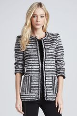 Alice + Olivia Alice Olivia Luci Metallic Tweed Coat - Lyst