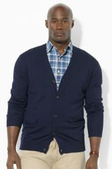 Big & Tall Merino Wool V-neck Cardigan - Lyst