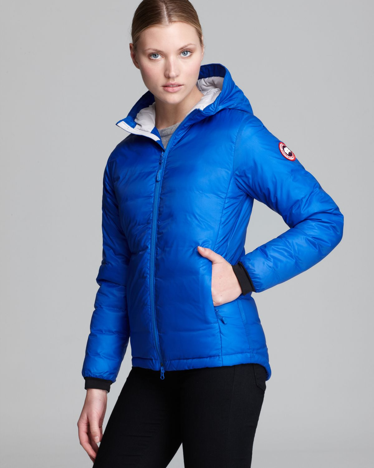 Canada goose Down Coat Pbi Camp Hooded Lightweight in Blue | Lyst