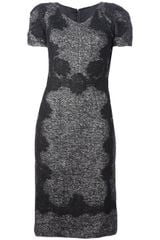 Dolce & Gabbana Tweed and Lace Dress - Lyst