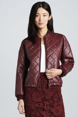 Elizabeth And James Lena Quilted Fauxleather Jacket - Lyst