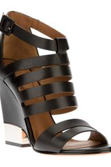 Givenchy Strappy Wedged Sandal - Lyst