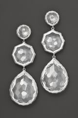 Ippolita Sterling Silver Rock Candy Crazy 8s Earrings in Clear Quartz - Lyst