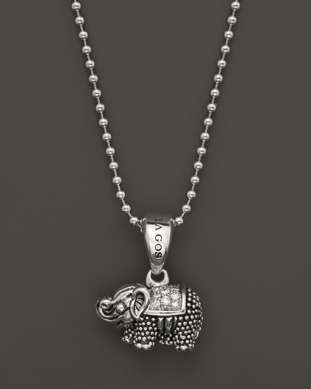 Lagos Rare Wonders Elephant Pendant Necklace B3GRoVhPV