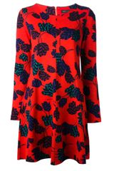 Marc By Marc Jacobs Flared Tulip Print Dress - Lyst