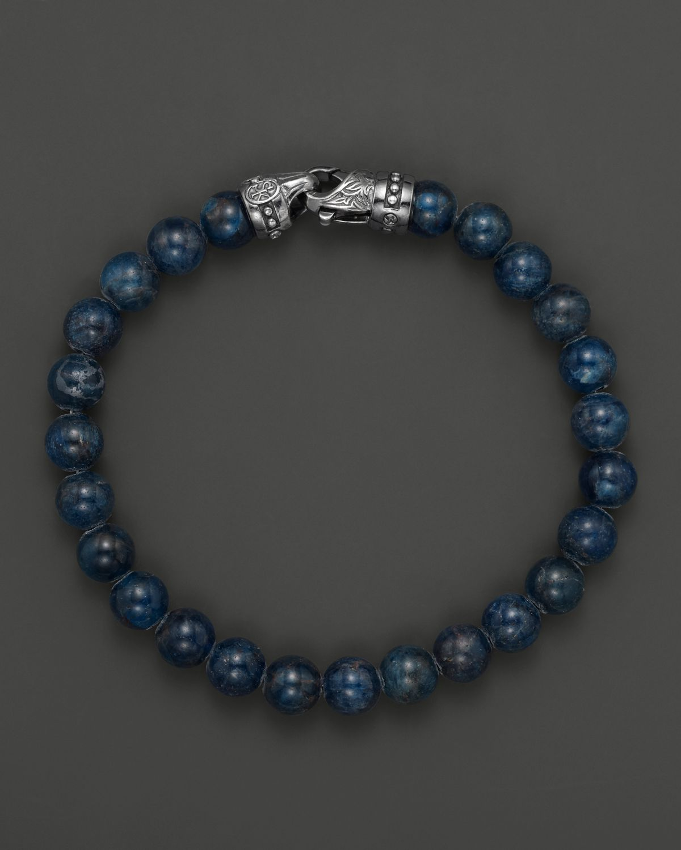 Scott kay Mens Blue Apatite Beaded Bracelet 6mm in Blue for Men Lyst