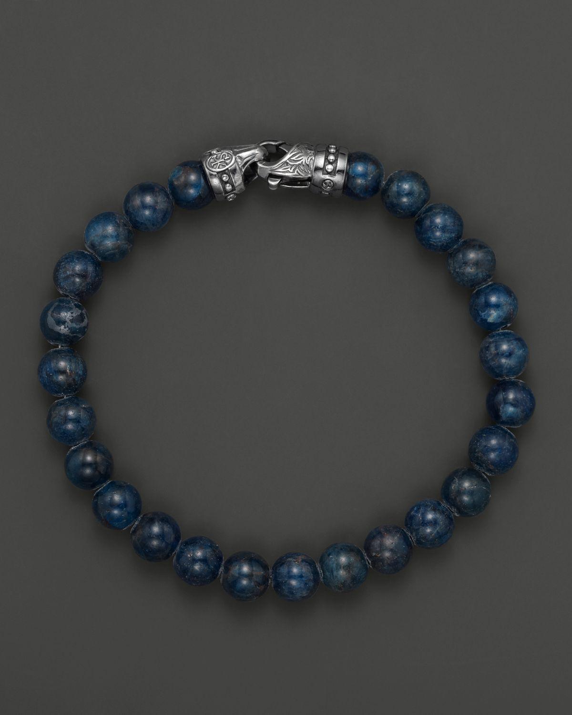 Lyst Scott Kay Mens Blue Apatite Beaded Bracelet 6mm In