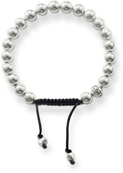 thomas sabo rebel at heart silver bead bracelet in silver