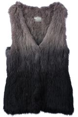 Meteo By Yves Salomon Degradé Sleeveless Gilet - Lyst