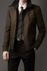 Burberry Cashmere Detail Harrington Jacket - Lyst