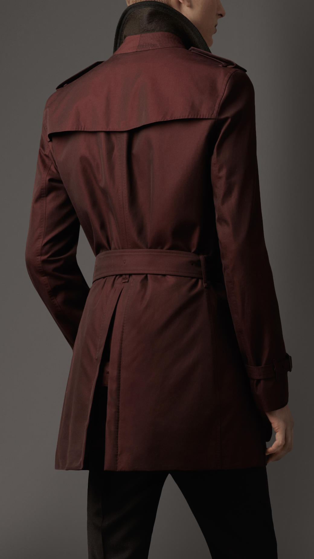 Lyst Burberry Midlength Cashmere Detail Gabardine Trench