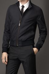 Burberry Cotton Gabardine Blouson - Lyst