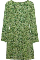 Jonathan Saunders Karla Leaf-print Wool Dress - Lyst