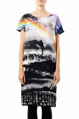 Mary Katrantzou Wisherman Rainbow Print Shift Dress - Lyst