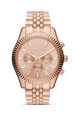 Michael Kors Mens Rose Gold Tone Lexington Chronograph Watch 45mm - Lyst