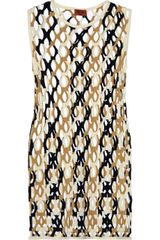 Missoni Rete Cutout Mini Dress - Lyst