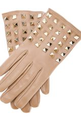 Valentino Studded Gloves - Lyst