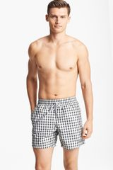 Vilebrequin Morio Check Swim Trunks - Lyst