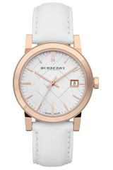 Burberry Womens Swiss White Leather Strap 34mm - Lyst