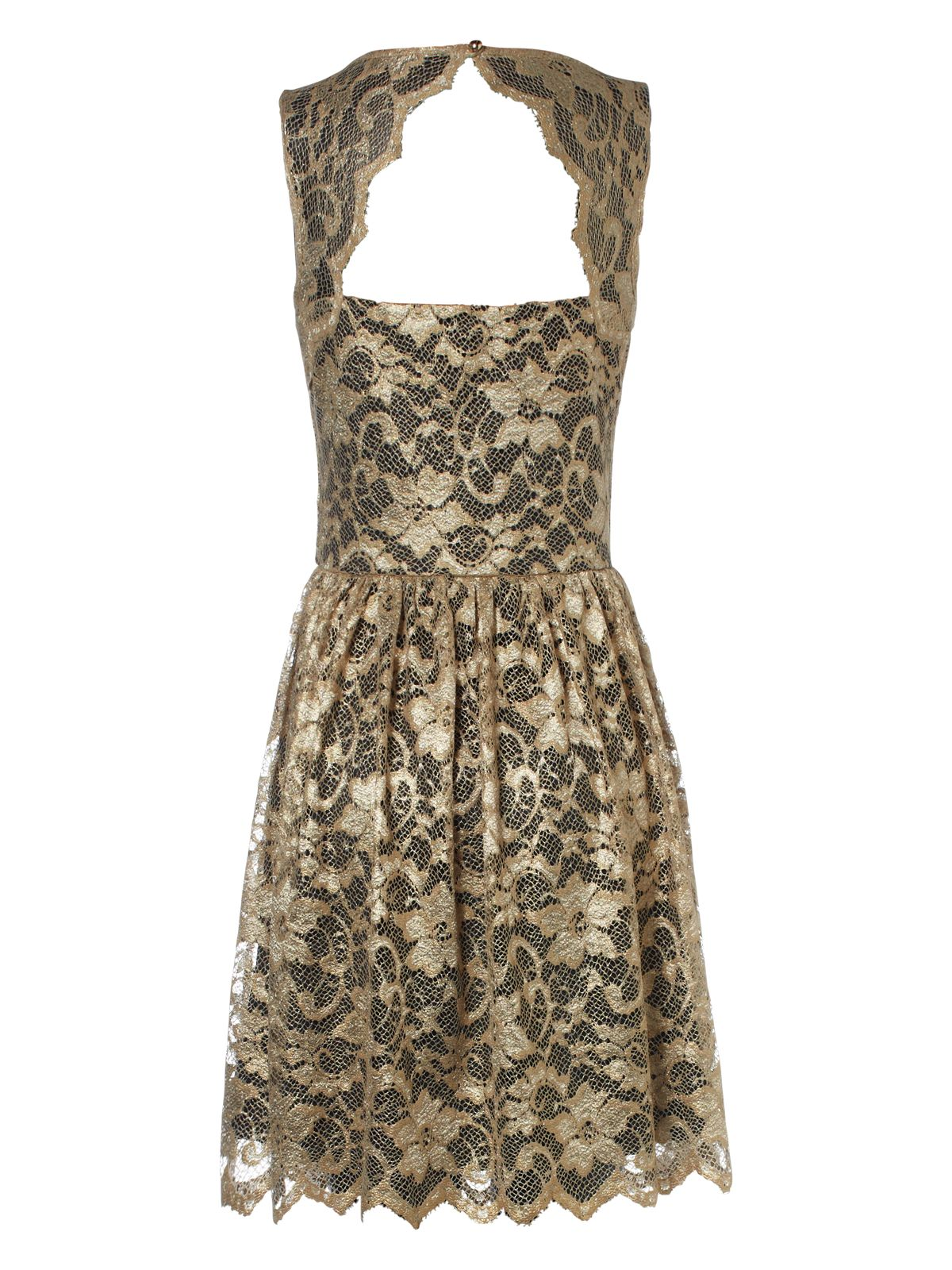 Jane norman gold skater dress