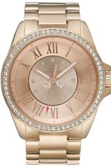 Juicy Couture Womens Stella Rose Gold Tone Stainless Steel Bracelet 42mm - Lyst