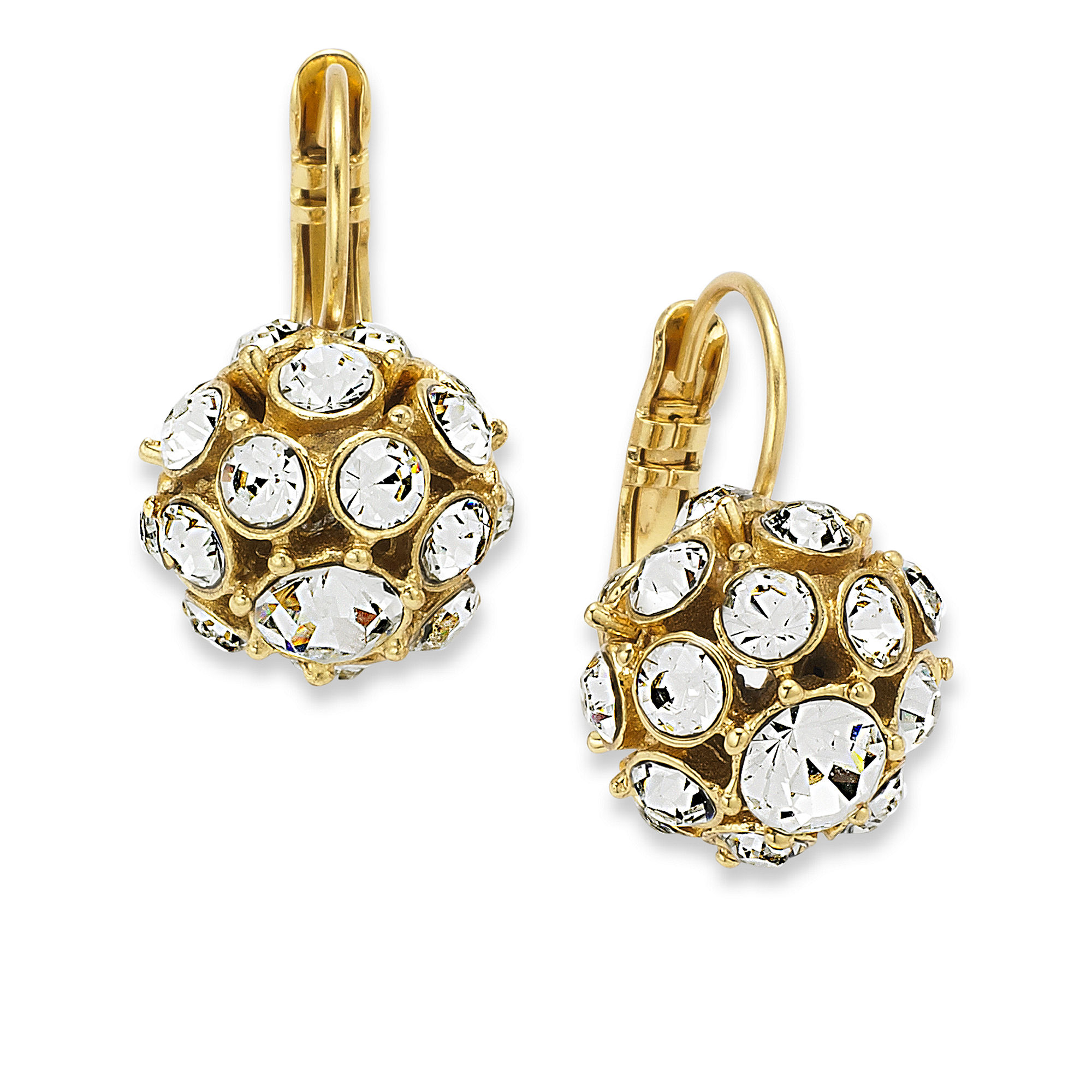 Spade Jewelry: Kate Spade 12k Gold-plated Crystal Ball Drop Earrings In