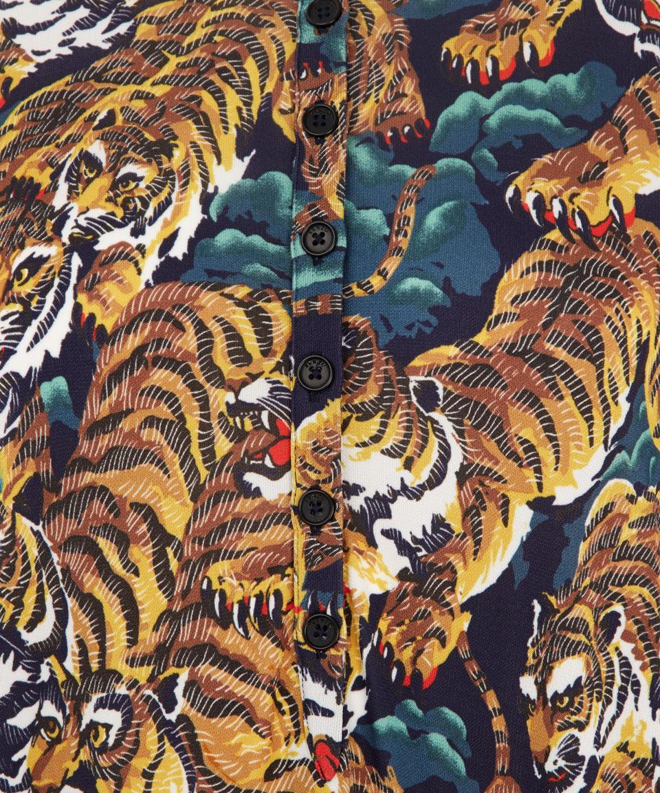 kenzo tiger jungle print crepejersey dress lyst